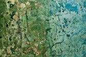 Decayed cracked painted old wall background — Stock Photo