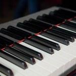 cerrar el teclado del piano de cola — Foto de Stock