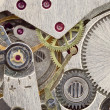 Ancient tiny clockwork close up texture — Foto Stock