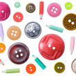 Set of plastic color different buttons - Stock Photo