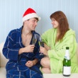 Man and woman together celebrate Christmas — Stock Photo #2316771