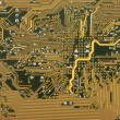 Industrial hi tech circuit background with elect — Stock Photo