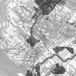 Abstract circuit board background in hi-tech sty - Stock Photo