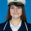 Portrait of the woman - captain — Stock Photo