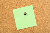 Stickers pinned to a cork board — Stock Photo