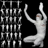 Collection of bandaged mummies — Stock Photo