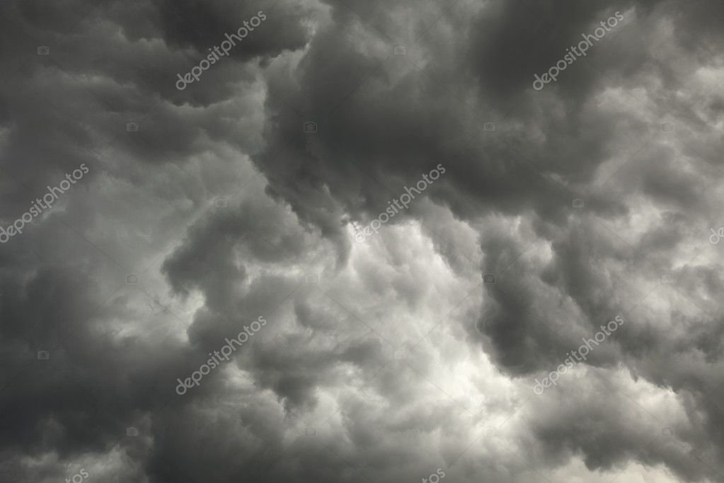 The gloomy sky preceding a storm with dark clouds background  Stock Photo #2312862