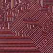 High tech red circuit board background — Stock Photo