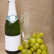 Still-life from bottle of sparkling — Stock Photo
