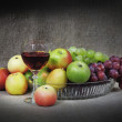 Classical still-life with fruit - Stock Photo