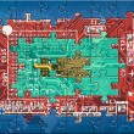 Abstract multicolor circuit board puzzle — Stock Photo #2324155