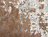 Concrete wall covered cracked paint dirt — Stock Photo