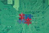 Circuito verde puzzle astratto — Foto Stock