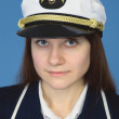 Portrait of woman - captain — Stock Photo