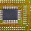 Stock Photo: Microcircuit soldered to electronic plate