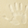 Trace from palm on surface of yellow sand — Stock Photo #2333240