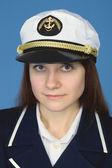 女性 - キャプテンの肖像 — ストック写真