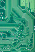 Green industrial texture of a electronic plate — Foto Stock
