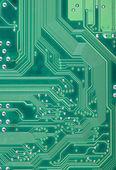 зеленый промышленный текстура электронные пластины — Стоковое фото