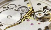 Tiny clockwork photographed close up — Stock Photo