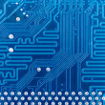 High tech circuit board industrial — Stock Photo