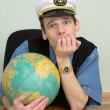 Seaman misses on distant travel - Stock Photo