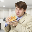 Young businessman is the dinner — Stock Photo