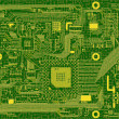 Tech industrial electronic circuit green — Stock Photo