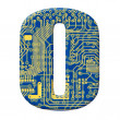 Royalty-Free Stock Photo: Digit from circuit board alphabet