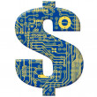 Symbol from circuit board — Stock Photo