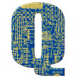 Royalty-Free Stock Photo: Letter from electronic circuit board