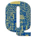 電子回路基板からの手紙 — ストック写真