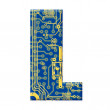 Letter from circuit board alphabet — Stock Photo
