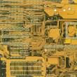 Green industrial circuit board electroni — Stock Photo