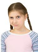 Skeptical teenager girl — Stock Photo