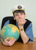 Seaman misses on distant travel — Stock Photo