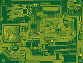 Tech industrial electronic circuit green — Stock Photo