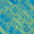 Printed blue industrial circuit board — Stock Photo