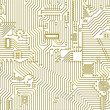 Golden industrial circuit board pattern — Stock Photo
