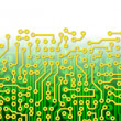 Green circuit board graphical border — Stock Photo