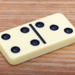 Royalty-Free Stock Photo: Dominoes on wooden surface close up