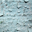 Old blue peeling painted wall - Stock Photo