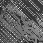 Circuit board industrial monochrome — Stock Photo
