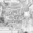 Circuit board industrial graphical — Stock Photo