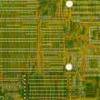 Stock Photo: Circuit board green high technological