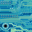 Hi-tech electronic circuit board — Stock Photo