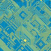 Gedrukte blauwe industriële printplaat — Stockfoto