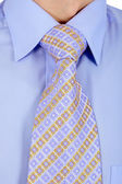 Properly tied business tie — Stock Photo