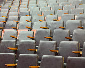 Rows of old theater seats — Stock Photo