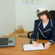 Stock Photo: Womin uniform sailor in office